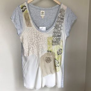 NWT $88 Tiny Anthropologie beaded lace top